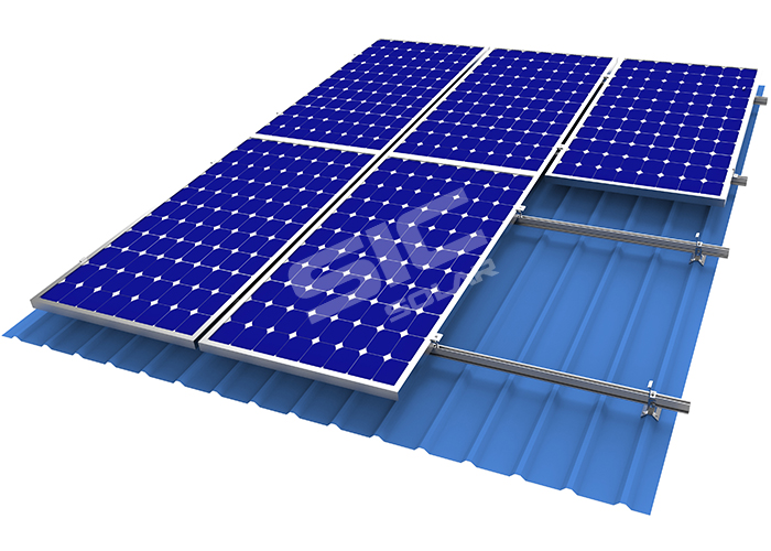 solar panel roof mounting systems for trapezoid metal roof