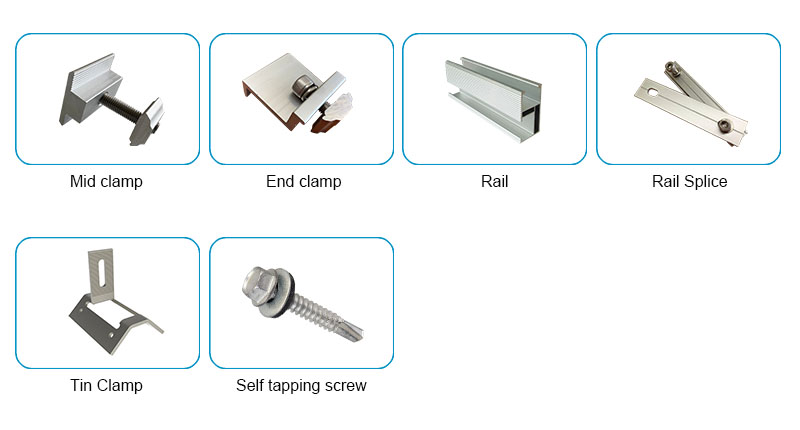 solar panel metal roof mounting kits