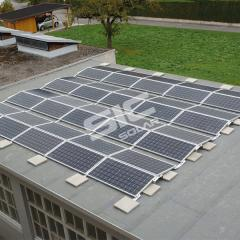 Adjustable ballast solar structure