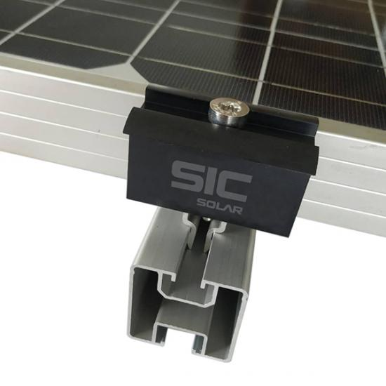 Aluminum solar mounting rails for solar panels