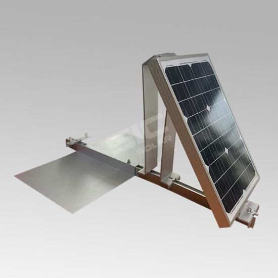 Dual tilt ballasted solar mounting system